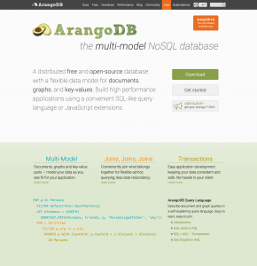 ArangoDB the multi model NoSQL DB